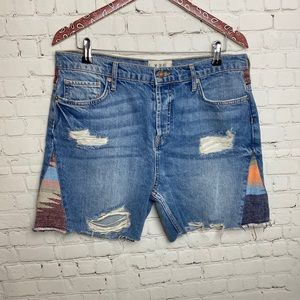 Free People Western Patchwork Shorts 29